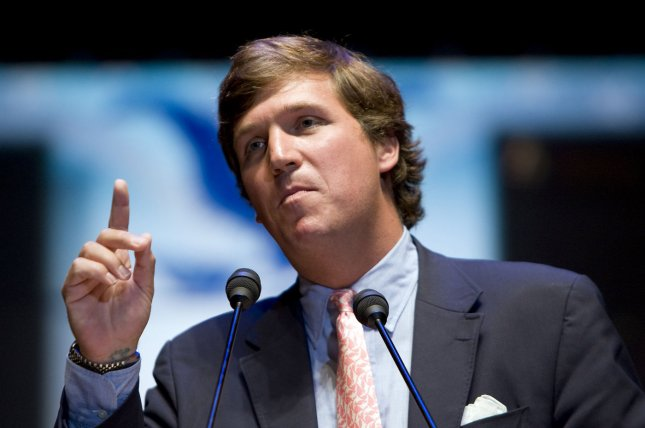 Tucker Carlson at a Rally for the Republic hosted by Ron Paul on September 2, 2008. File Photo by Patrick D. McDermott/UPI