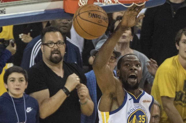 7ede0ad7c3ce Golden State Warriors forward Kevin Durant (35) has missed the Warriors   last two playoff games headed into Thursday night s Game 2 at Oracle Arena.