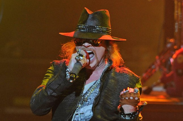 Axl Rose of Guns N' Roses. The band will be performing at the Super Bowl Music Fest along with DJ Khaled and Maroon 5. File Photo by Michael Bush/UPI