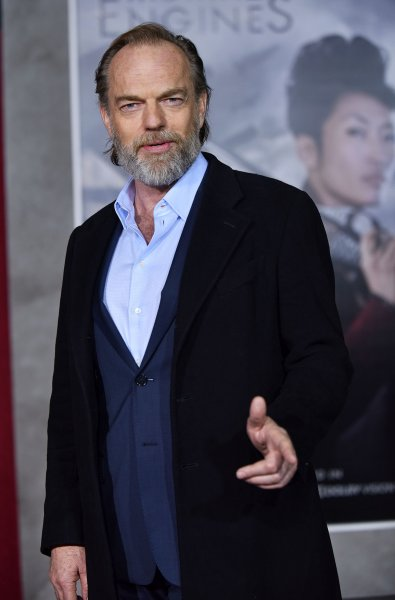Hugo Weaving attends the premiere of Mortal Engines at the Regency Village Theatre in Los Angeles on December 5, 2018. The actor turns 60 on April 4. File Photo by Chris Chew/UPI