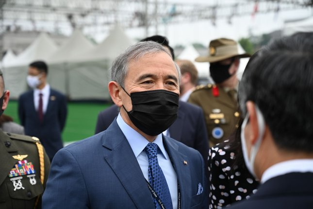 U.S. Ambassador to South Korea Harry Harris promoted the U.S. alliance with South Korea on Wednesday while confirming plans to leave his post next week. File Photo by Thomas Maresca/UPI