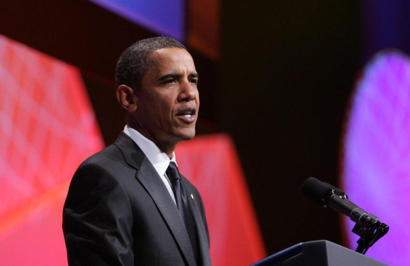 U.S. President Barack Obama speaks at the Congressional Hispanic Caucus Institute (CHCI) dinner in Washington on September 16, 2009. UPI/Dennis Brack/Pool