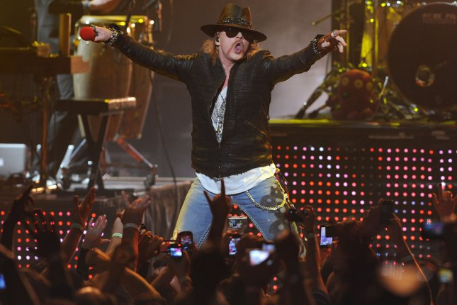 Axl Rose performs with Guns N' Roses in Miami Beach on March 5, 2012. File Photo by Michael Bush/UPI