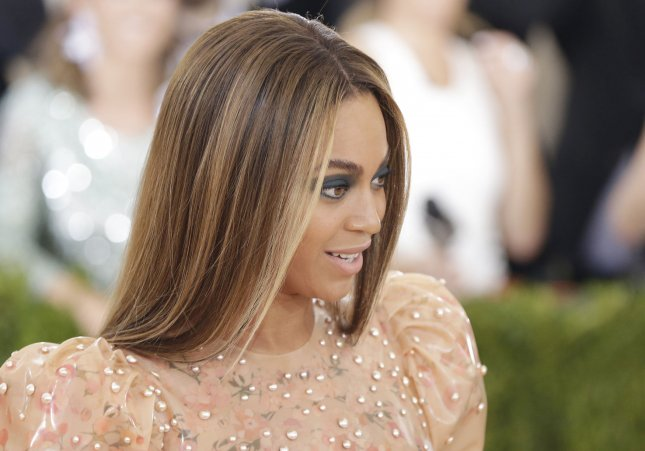 Beyonce arrives on the red carpet at the Costume Institute Benefit at The Metropolitan Museum of Art on May 2. Photo by John Angelillo/UPI