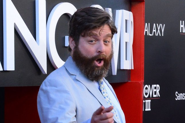 Zach Galifianakis attends the premiere of The Hangover Part III on May 20, 2013. The comedian plays a would-be bank robber in the new official trailer to Masterminds alongside Kristen Wiig and Owen Wilson. File Photo by Jim Ruymen/UPI