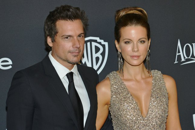 Kate Beckinsale (R) and Len Wiseman (R) arrive at the lnStyle and Warner Brothers Golden Globes after party at the Beverly Hilton Hotel on January 11, 2015. Wiseman filed for divorce from the actress on Tuesday citing irreconcilable differences. File Photo by Christine Chew/UPI