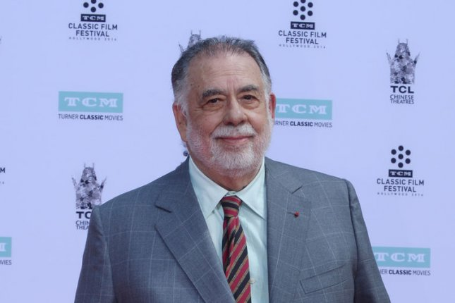The Godfather director Francis Ford Coppola participates in a hand and footprint ceremony in Los Angeles last year. File Photo by Jim Ruymen/UPI