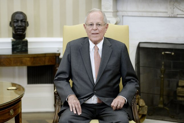Peruvian President Pedro Pablo Kuczynski stepped down Wednesday after months of calls for his resignation. File Photo by Olivier Douliery/UPI