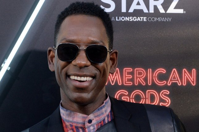 Cast member Orlando Jones attends the premiere of Starz's new television series American Gods in Los Angeles in 2017. Jones said Saturday he was fired from the show after two seasons. File Photo by Jim Ruymen/UPI