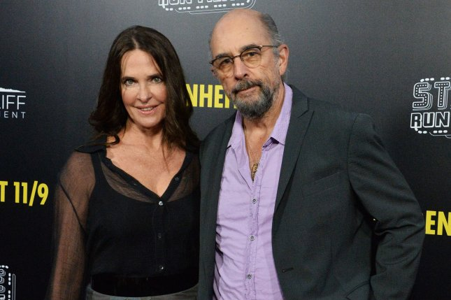 Richard Schiff (R), pictured with Sheila Kelley, is off oxygen and hopes to be released soon after being hospitalized for COVID-19. File Photo by Jim Ruymen/UPI
