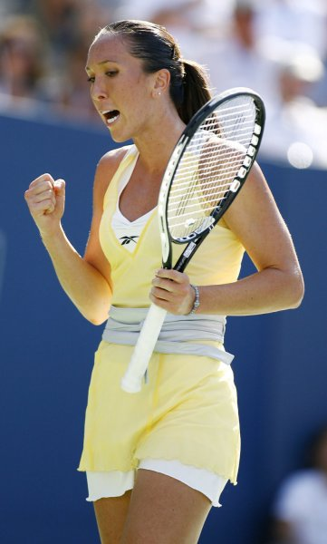 Jelena Jankovic, shown in a file photo from the 2008 U.S. Open, on Monday returned to the top spot in the women's world tennis rankings. (UPI Photo/Monika Graff)