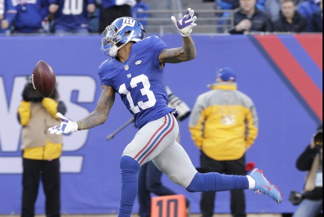 New York Giants  Odell Beckham Jr. drops a long pass when he is wide open  in the first quarter against the Carolina Panthers at MetLife Stadium in  East ... 9c7db67df