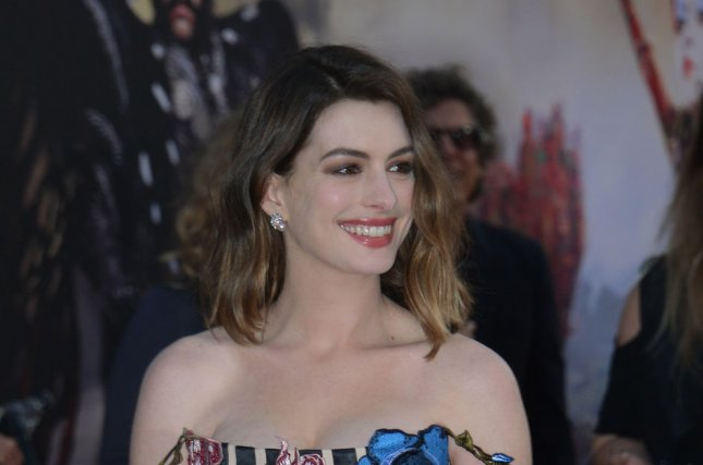 Anne Hathaway at the Los Angeles premiere of Alice Through the Looking Glass on Monday. Photo by Jim Ruymen/UPI