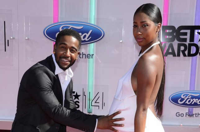 Omarion and Apryl Jones attending the 14th annual BET Awards at Nokia Theatre L.A. Live in Los Angeles on June 29, 2014. Omarion has annoucned his split from Jones on social media. File Photo by Phil McCarten/UPI