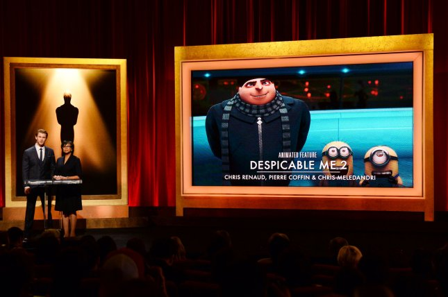 The Oscar nominees for Best Animation including Despicable Me 2 are announced by actor Chris Hemsworth (L) and Academy of Motion Picture Arts and Sciences President Cheryl Boone Isaacs at the Samuel Goldwyn Theatre in Beverly Hills on January 16, 2014. File Photo by Jim Ruymen/UPI