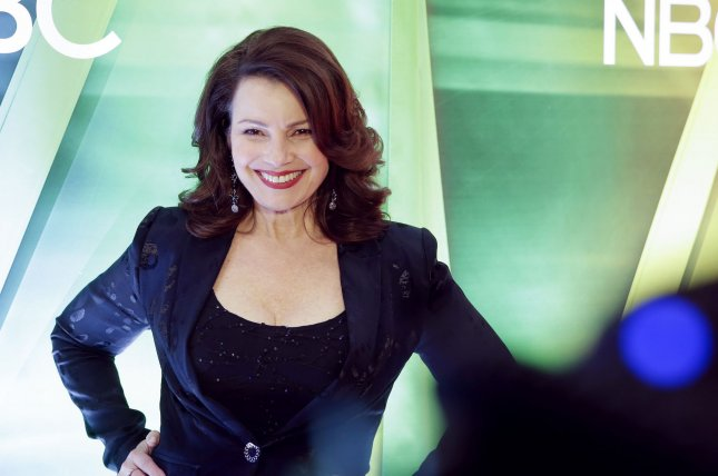 Fran Drescher from Indebted arrives on the red carpet at the NBC Midseason New York Press Junket at the Four Seasons hotel on January 23. Photo by John Angelillo/UPI