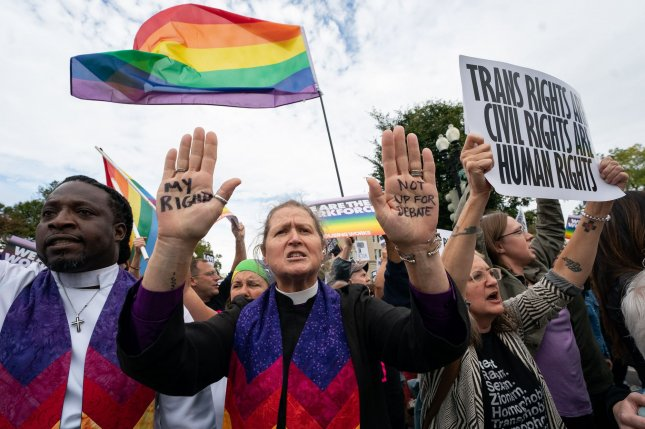 A group of LGBTQ advocates and clinics sued Monday to try to stop the Trump administration's rollbacks of healthcare sex discrimination for transgender patients. File Photo by Kevin Dietsch/UPI