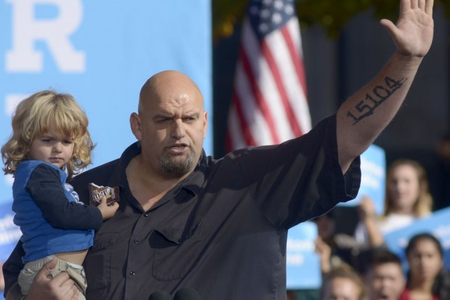 Pennsylvania Lt. Gov. John Fetterman, seen here in 2016 as mayor of Braddock, Pa., announced he will run as a Democrat for Senate to replace Sen. Pat Toomey, R-Pa. File Photo by Archie Carpenter/UPI