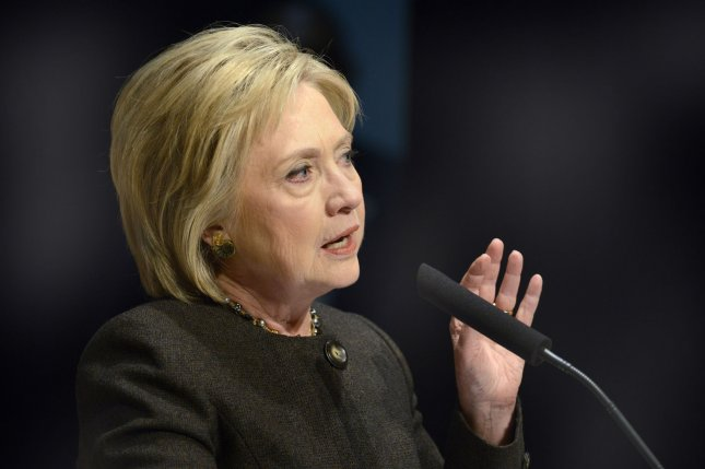Former Secretary of State Hillary Clinton may deal with fallout after the State Department announced classified 22 of her emails as top secret, sent during her time at the department. Photo by Mike Theiler/UPI