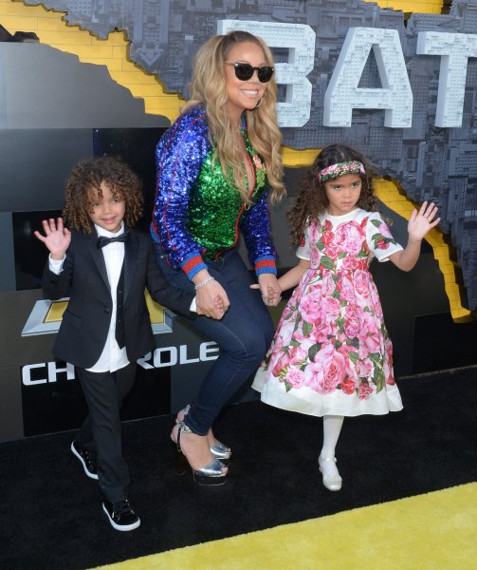 Mariah Carey brings her children to 'LEGO Batman' premiere - UPI.com