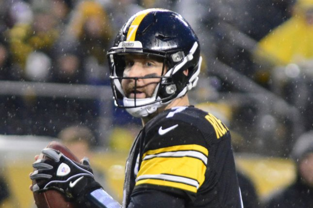 Pittsburgh Steelers quarterback Ben Roethlisberger (7) throws in the first quarter against the New England Patriots at Heinz Field in Pittsburgh on December 17, 2017. File photo by Archie Carpenter/UPI