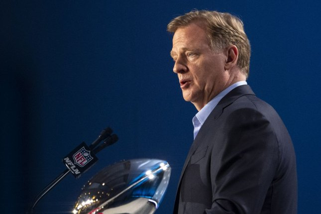NFL commissioner Roger Goodell said the league has not determined the capacity allowed for Super Bowl LV and will not distribute the COVID-19 vaccine to players or personnel before the game. File Photo by Kevin Dietsch/UPI