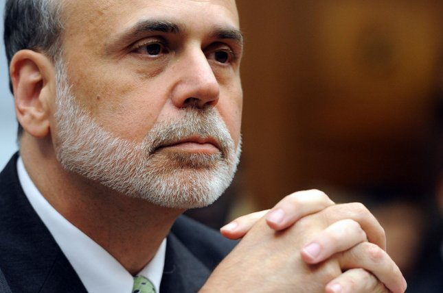 Federal Reserve Board Chairman Ben Bernanke testifies before the House Financial Services Committee on July13, 2011. Bernanke said Thursday the central bank is not ready to provide more stimulus to aid the moderate U.S. economic recovery. UPI/Roger L. Wollenberg
