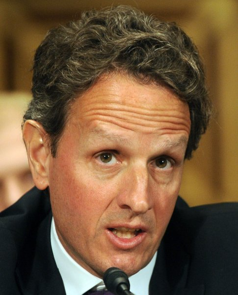 Treasury Secretary Timothy Geithner reiterated his support of the U.S. government's bailouts of select auto companies. UPI/Roger L. Wollenberg