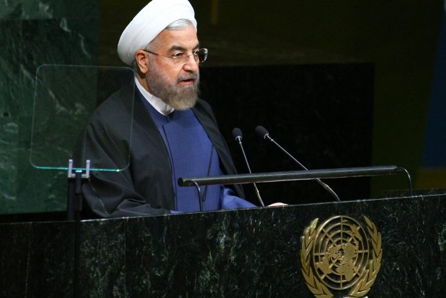 Iranian President Hassan Rouhani, addresses the 69th session of the United Nations General Assembly held at the UN in New York City on September 25, 2014. (UPI /Monika Graff)