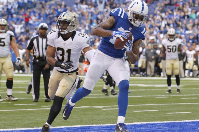 Indianapolis Colts wide receiver Donte Moncrief (10). Photo by John Sommers II/UPI