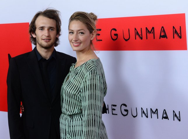 Hopper Penn (L) and Uma Von Wittkamp attend the premiere of The Gunman in Los Angeles on March 12, 2015. On Wednesday, the two actors were arrested on drug charges in Nebraska. File Photo by Jim Ruymen/UPI