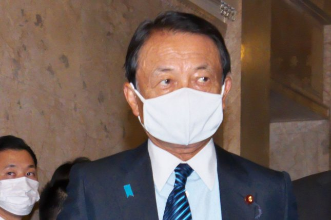 Japanese Deputy Prime Minister Taro Aso has said the treated wastewater from the damaged Fukushima No. 1 nuclear plan is safe to drink, according to Japanese press reports. File Photo by Keizo Mori/UPI