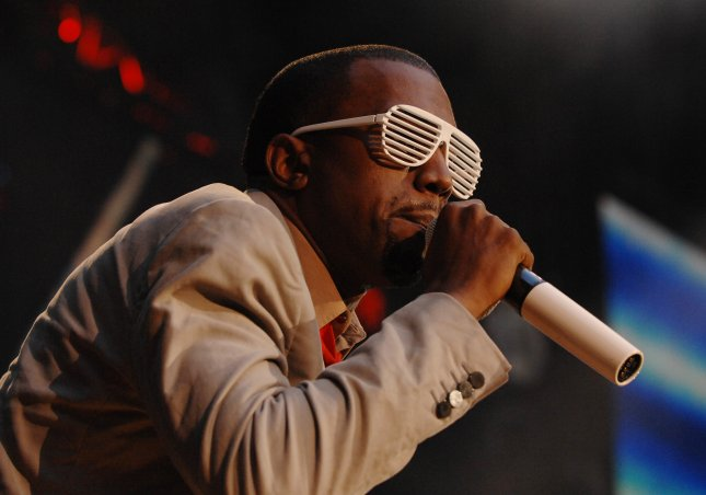 American hip-hop star Kanye West performs at The Concert For Diana at Wembley Stadium in London on July 1, 2007. (UPI Photo/Rune Hellestad)