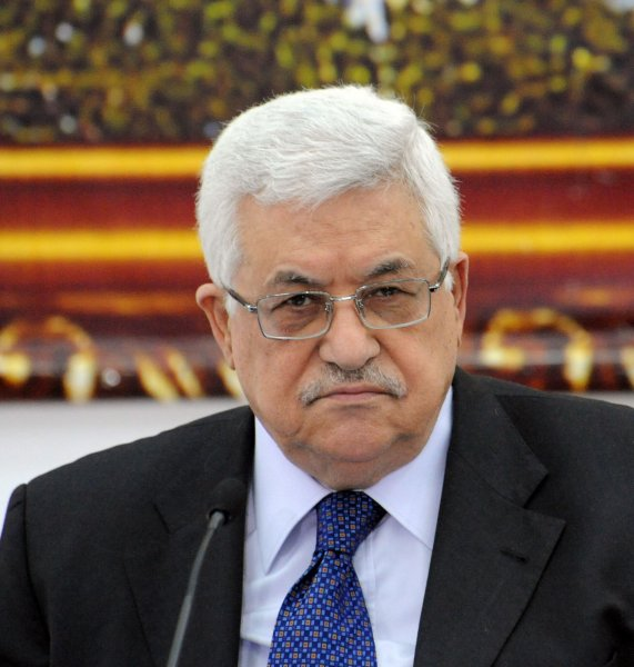 Palestinian President Mahmoud Abbas convenes the Palestinian Liberation Organization Council in Ramallah, West Bank, to discuss whether to take part in the US proposed proximity talks with Israel, May 8, 2010. US special envoy George Mitchell will convey messages between the two sides in hope of advancing the peace process. UPI/Debbie Hill