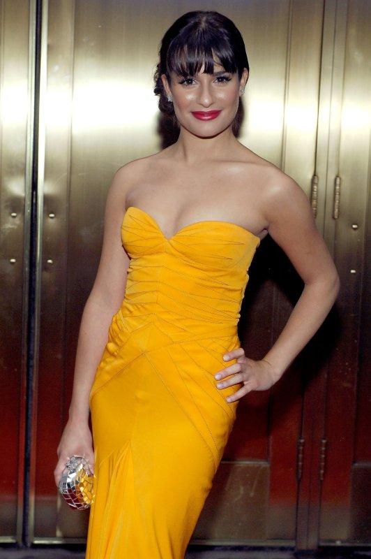 Lea Michele arrives at the 2010 Tony Awards at Radio City Music Hall in New York City on June 13, 2010. UPI/Joe Corrigan