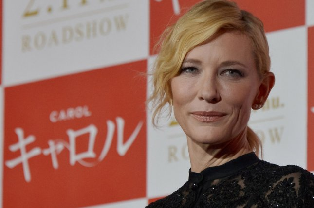 Actress Cate Blanchett attends the stage greeting during the Japan premiere for the film Carol in Tokyo on January 22, 2016. Photo by Keizo Mori/UPI