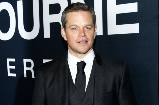 Cast member Matt Damon attends the premiere of the motion picture thriller Jason Bourne at Caesars Palace in Las Vegas, Nev. on July 18, 2016. Damon appeared on Jimmy Kimmel Live! as he and host Jimmy Kimmel attempted to patch up their ongoing onscreen feud by attending couples therapy for a second time. Photo by James Atoa/UPI