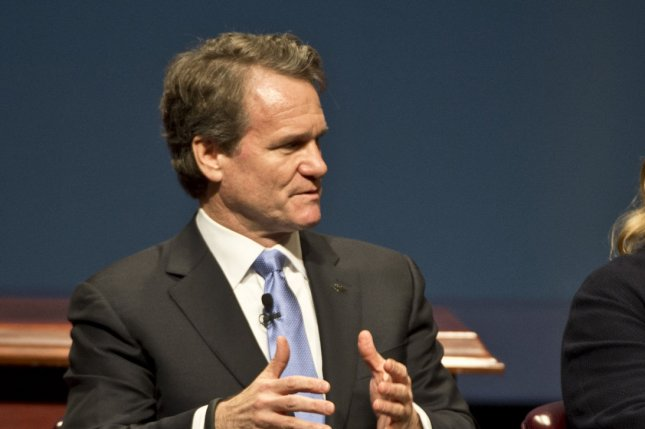 Chairman and CEO of Bank of America Brian Moynihan will testify during a House hearing Wednesday. His bank announced Tuesday that it will boost its minimum wage for employees to $20 per hour by 2021. Photo by Terry Schmitt/UPI