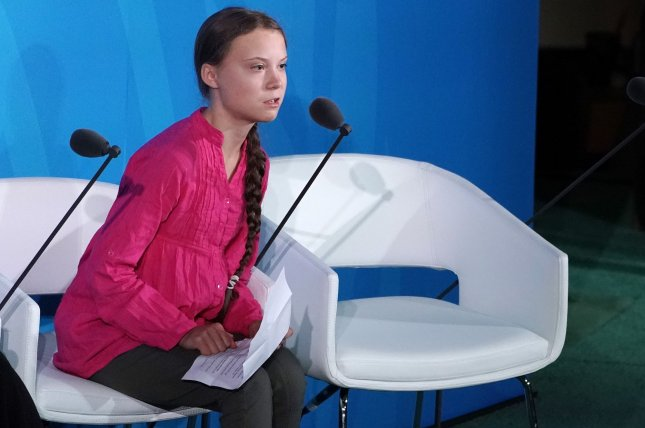Swedish environmental activist Greta Thunberg speaks at the Climate Action Summit at the 74th General Debate at the United Nations General Assembly at United Nations Headquarters in New York City on September 23, 2019. Photo by Jemal Countess/UPI