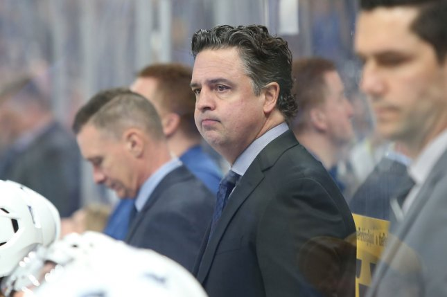 Vancouver head coach Travis Green and the Canucks haven't played since March 24 because of their coronavirus issues. File Photo by Bill Greenblatt/UPI
