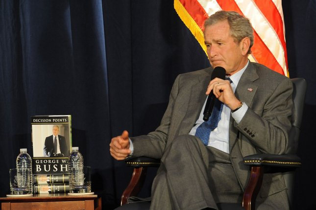 Former President George W. Bush, who in a new poll is blamed by majority of Americans for the state of the economy more than Obama. UPI/Jayne Kamin-Oncea