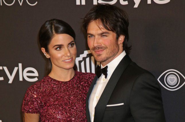 Nikki Reed (L) and Ian Somerhalder attend the InStyle and Warner Bros. Golden Globes after-party on January 8. The couple welcomed daughter Bodhi Soleil on July 25. File Photo by David Silpa/UPI