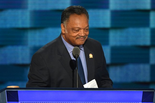 Civil rights leader Jesse Jackson announced in a letter Friday that he's been diagnosed with Parkinson's disease at the age of 76. File Photo by Pat Benic/UPI