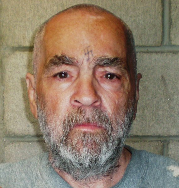 Charles Manson is pictured in a March 19, 2009 mug shot released by the California Department of Corrections and Rehabilitation in Corcoran, California. Photo by UPI/California State Prison
