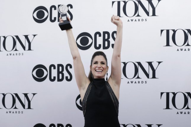Actress Stephanie J. Block, winner for Best Performance by an Actress in a Leading Role in a Musical for The Cher Show, arrives in the press room at the 73rd Annual Tony Awards on June 9 in New York City. Photo by John Angelillo/UPI