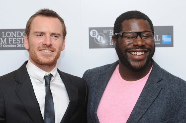 British actor Michael Fassbender and director Steve McQueen attend a photo call for Shame at BFI London Film Festival at Vue, Leicester Square in London on October 14, 2011. UPI/Rune Hellestad