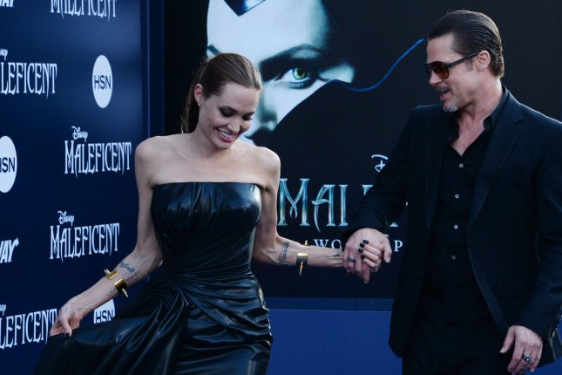 Angelina Jolie and Brad Pitt . UPI/Jim Ruymen