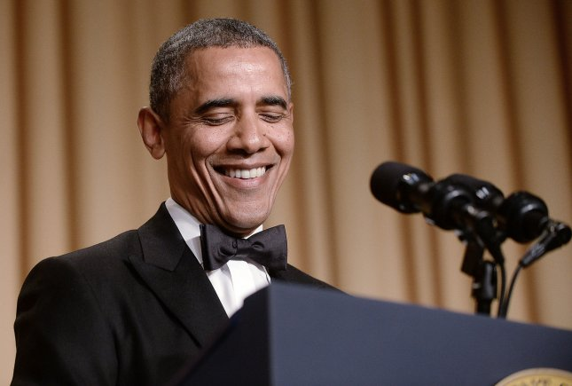 President Barack Obama at the annual White House Correspondent's Association dinner in 2014. File Photo by UPI/Olivier Douliery.