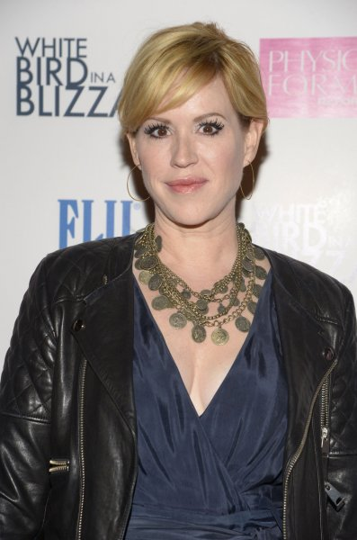 Molly Ringwald attends the premiere of the film White Bird in a Blizzard at the Arclight Theatre in the Hollywood section of Los Angeles on October 21, 2014. File photo by Phil McCarten/UPI