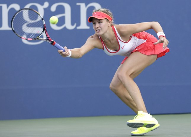 Eugenie Bouchard of Canada, a wild-card entrant at the Apia International Sydney event in Sydney, Australia, beat Shuai Zhang of China 7-6 (1), 6-2 in her opener on Sunday to advance to the second round. File Photo by John Angelillo/UPI
